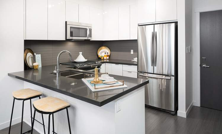 Get inspired in a Union Park gourmet kitchen with stainless steel appliances and well-designed kitchen details.