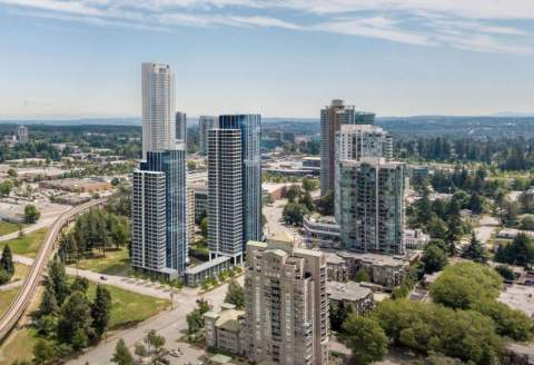Coming Soon To Surrey City Centre, Presale Condos And Townhouses By BlueSky Properties, A Bosa Family Company.