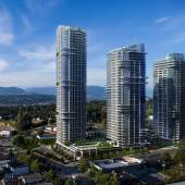 Coming soon to North Surrey, Central Business District presale condos and townhouses.