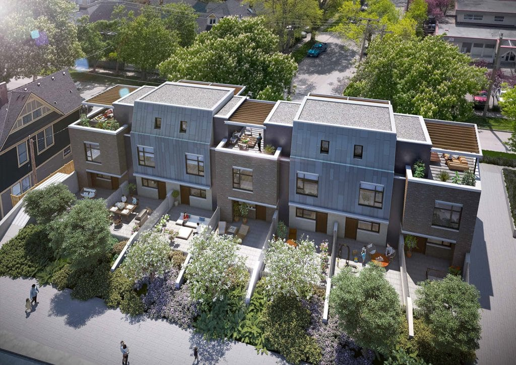 Capital Park Residences townhomes are a limited collection of seven 2- & 3-bedroom + den plans.