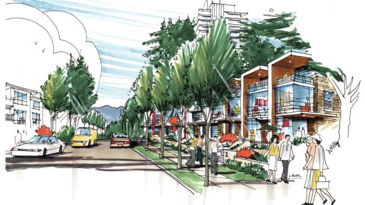 Artist rendering of the Musqueam redevelopment of the University Endowment Lands Block F.