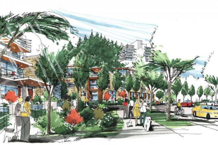 Artist rendering of the Musqueam redevelopment of the University Endowment Lands Block F