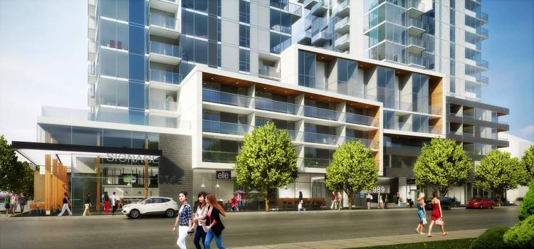 Right in the heart of downtown's new residential urban core, with a walk score of 96.