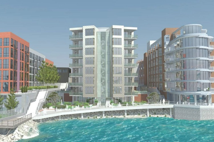 Located near the Johnson Street Bridge, The Pearl Residences will feature stunning harbour views.