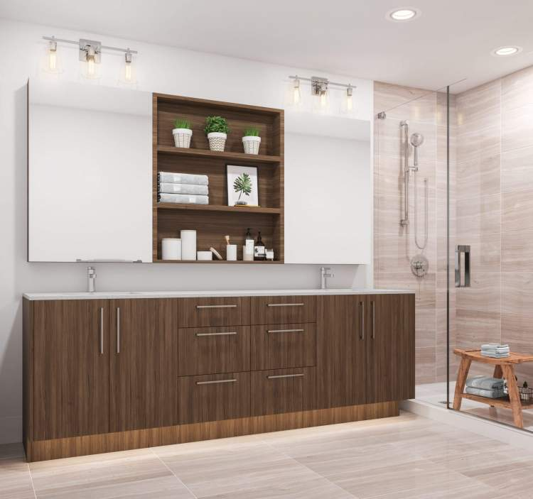 Spacious en suites feature under-cabinet lighting and Nuheat thermostat-controlled heated floors.