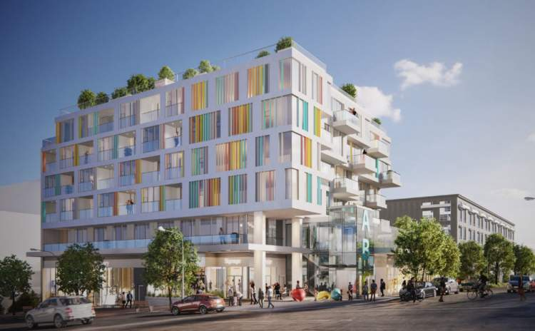Coming soon to Mount Pleasant, an arts-themed mixed-use building with presale condos, retail, and childcare.