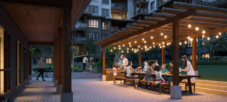 Something seldom found in urban communities: space. Generous inviting, revitalizing outdoor space.