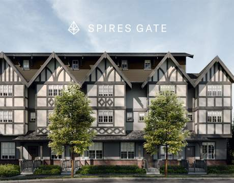 Spires Gate With Logo
