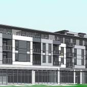 Killarney Enterprises development at West 49th Avenue & Alberta Street designed by Matthew Cheng Architects.