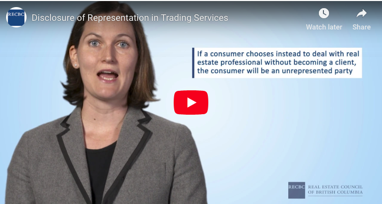 Disclosure Of Representation In Trading Services (DORTS) For Realtors In BC