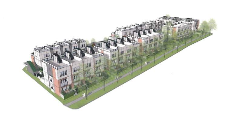 59 new townhomes proposed for West 28th & Ash designed by Gateway Architecture.