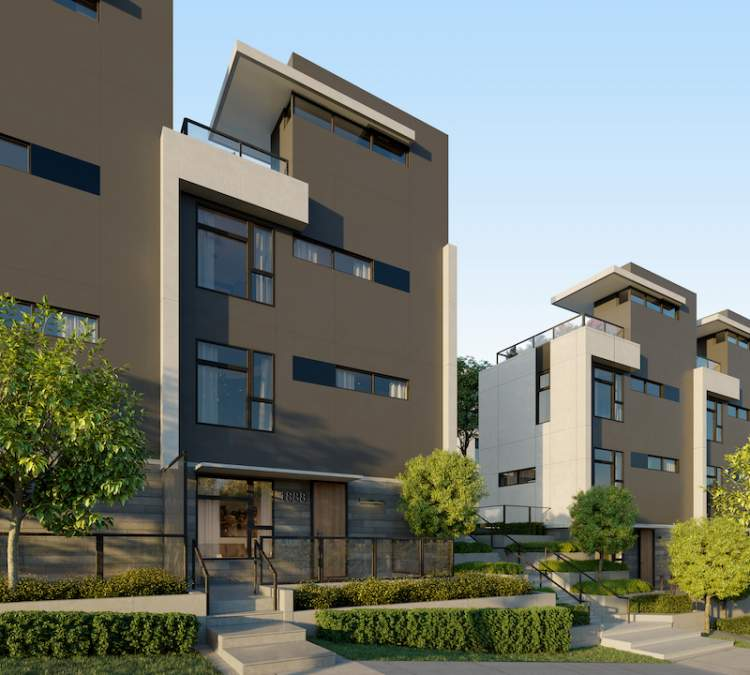 Clive's five townhomes feature private rooftop patios.