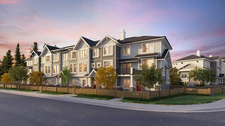 A classic collection of townhomes in North Delta.