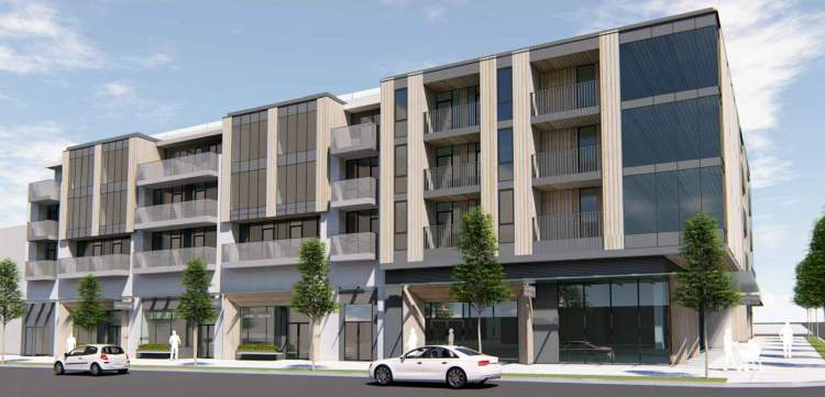 Proposed Mount Pleasant development to provide strata condominiums, offices, retail space, and a 2-level restaurant.