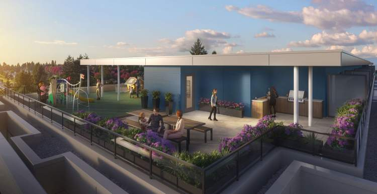 Two separate, shared rooftop amenity spaces for outdoor living.