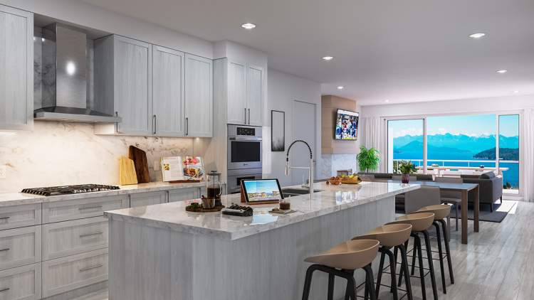 Cook with a view in your state-of-the-art kitchen.