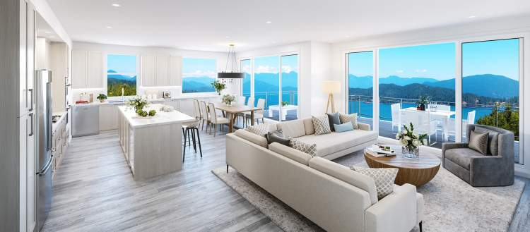 Expansive windows draw light, fresh air, and views into homes.
