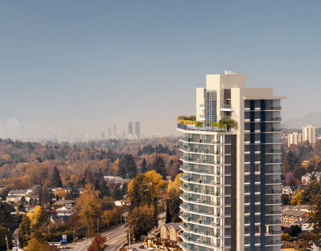 Coming Soon To Maillardville In Coquitlam, A Mixed-use Highrise With Retail, Office, And Presale Condos.