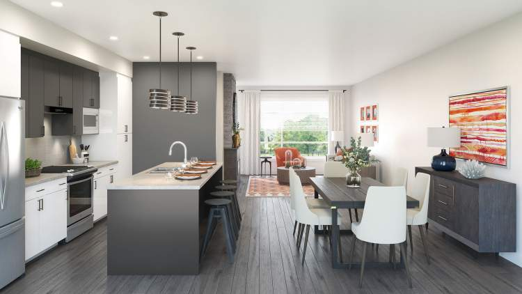 Bright and open floorplans with flexible living / dining room layouts.