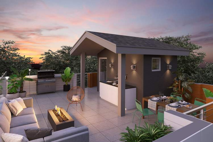 The contemporary West Coast exteriors, open floor plans, and spectacular rooftop decks, welcome you home to the style you want today with room to grow tomorrow.