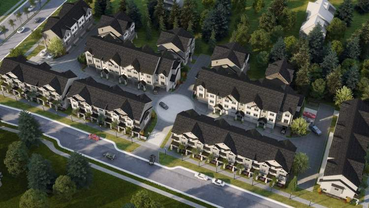Clayton Station is a development by Dreamstar Homes featuring 49 New England-inspired townhomes.