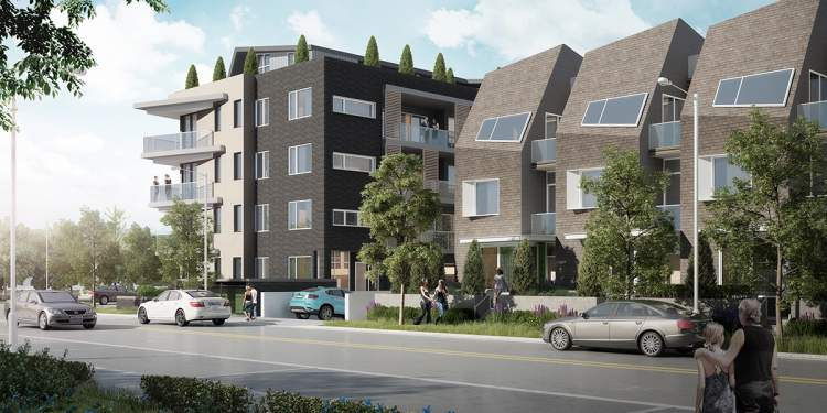 Artist rendering of ERA Phase 1's ground-oriented apartments.