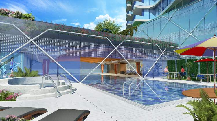 The 10,000 square foot health club features a stunning indoor/outdoor pool accompanied by a hot tub. Sink into a spa treatment or exercise in the fitness studio.