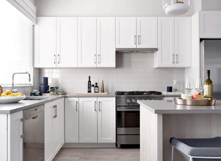 You'll be well taken care of with quartz countertops and high-end appliances.
