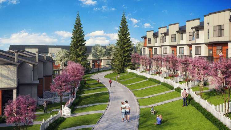 Imperial is nestled on a sprawling 6 acres on either side of a gently sloping pedestrian greenway and surrounded by snow-capped mountain views.