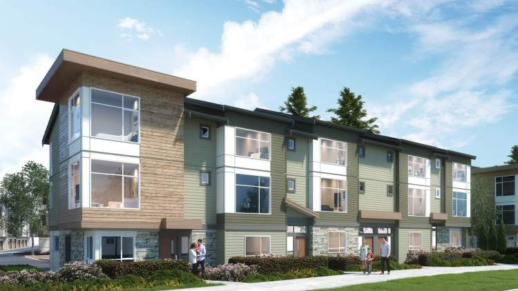 Featuring spacious three- and four-bedroom townhomes, Keystone is a family-friendly addition to Langley's Carvolth Village.