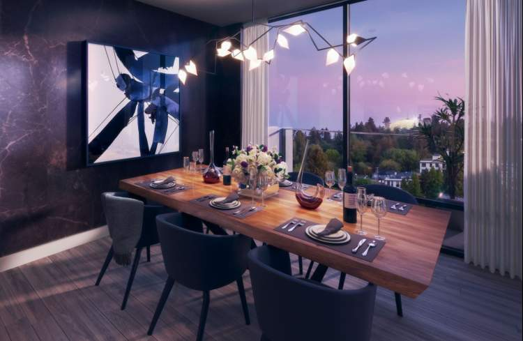 Artist concept of Savoy dining room.