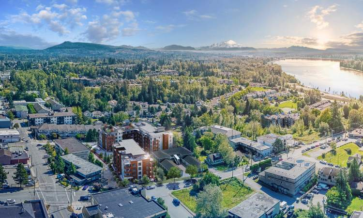 An upscale collection of 1-, 2- & 3-bedroom downtown Maple Ridge homes.