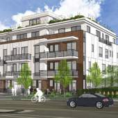 Cambie Corridor presale condos at 49th & Cambie designed by Fougere Architecture.