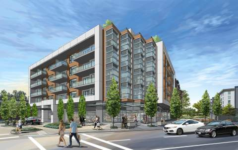 Proposed Mixed-used Development In North Vancouver At Bewicke & Marine Drive Designed By Ankenman Marchand Architects.