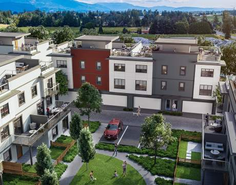 Coming Soon To Abbotsford's UDistrict, 73 Intelligently-designed Townhomes With Expansive Private Roof Deck.