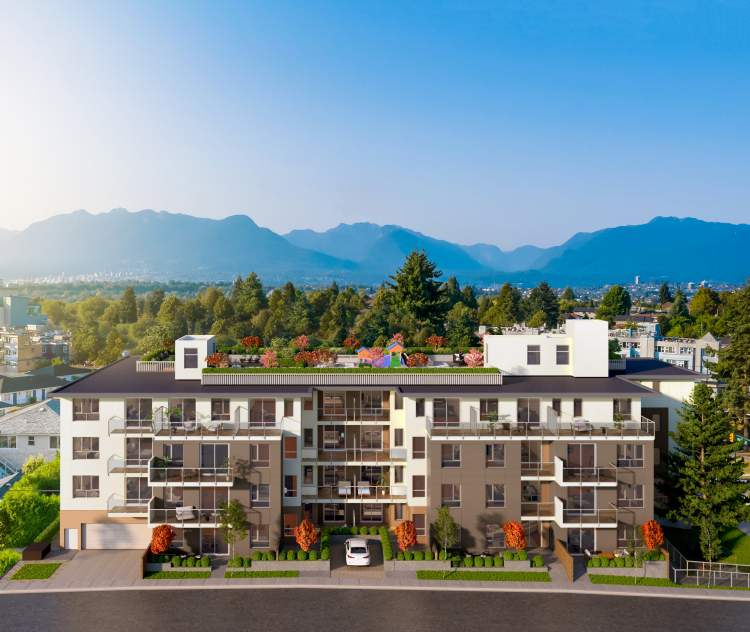 Enjoy panoramic views of the North Shore Mountains and the Vancouver skyline.