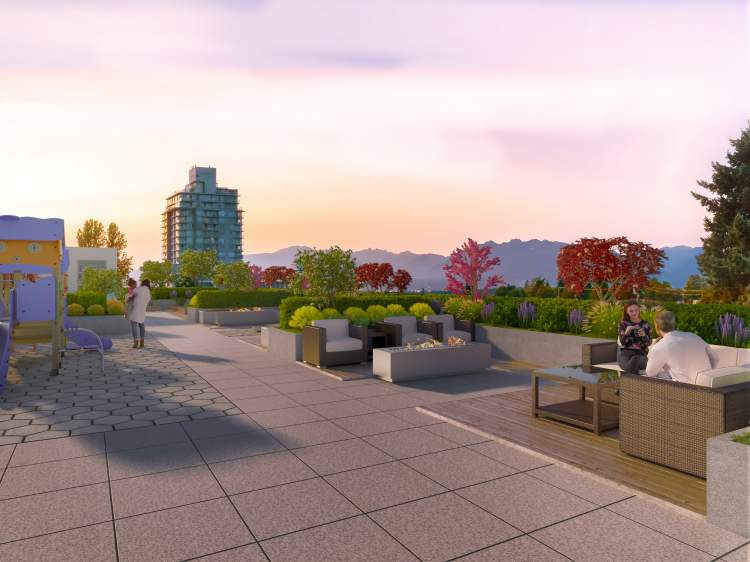 Clarendon Heights provides a beautifully designed rooftop, where residents can extend their living space to the outdoors.