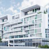 Proposed new mixed-use building at Hastings & Semlin by Reliance Properties.