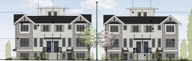 Coming soon to the Cambie Corridor, 23 family-friendly stacked presale townhomes.