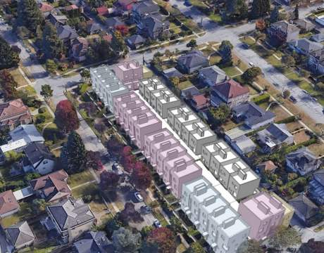 A New Proposed Cambie Corridor Development Is Poised To Offer 62 Homes With A Combination Of Rowhouses And Townhomes.