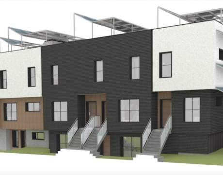 Rendering Showing Heather Street View Of Proposed Townhomes At West 29th Avenue.