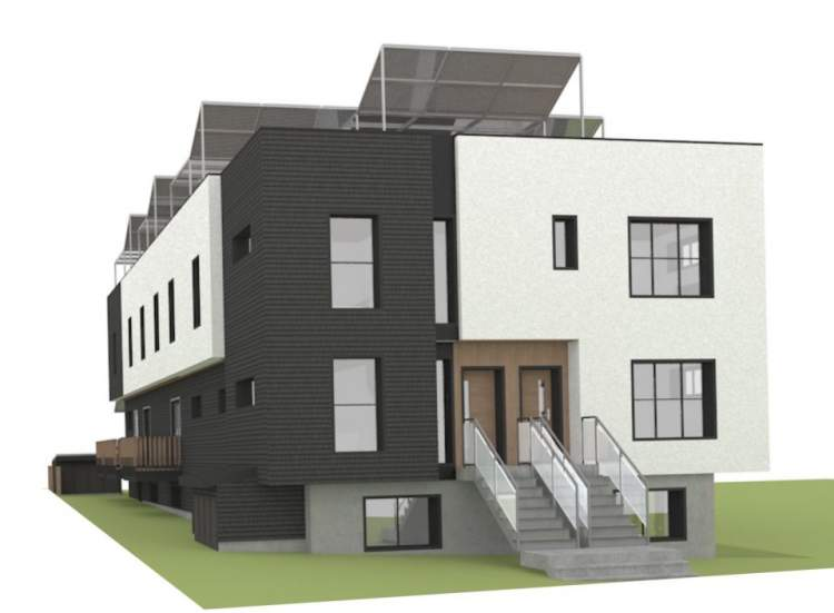 Rendering showing 29th Avenue frontage.