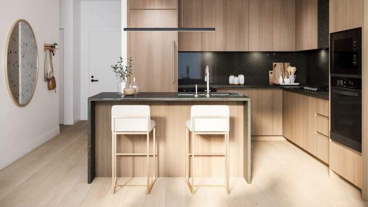 The kitchen's functional spaces are carefully crafted for ease of use, and for elegance that stands the test of time.