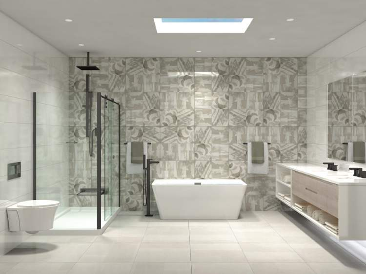 Bathrooms instill a sense of peace and natural airiness combined with spa-inspired luxury to create a space to relax.