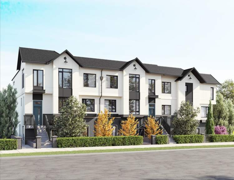 Rendering of new townhouse development - Hillcrest