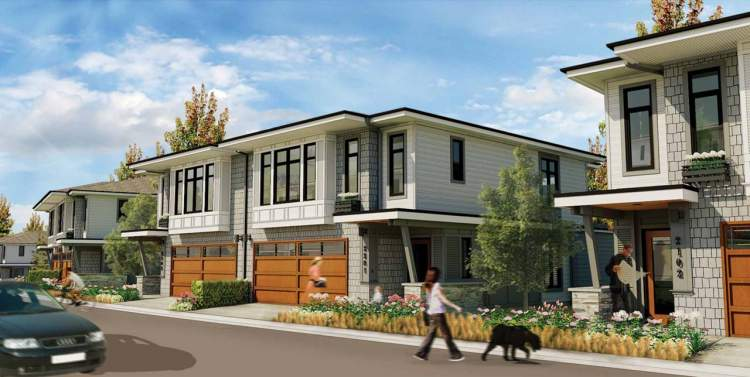 This family-centric development consists of 2-bedroom + den to 4- bedroom + den townhomes and duplexes.