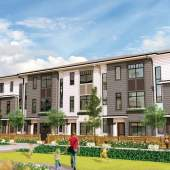 This 23-acre mixed-use development combines a mix of housing choices, including apartments, townhomes, and duplexes.