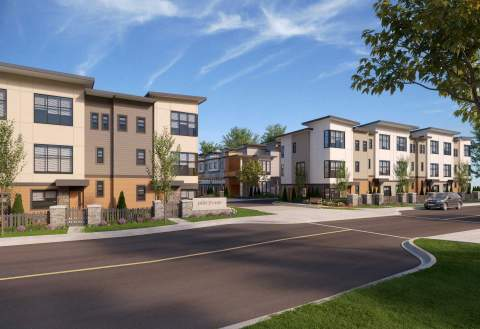 2- & 3-bedroom Willoughby Townhomes With Rooftop Patios.