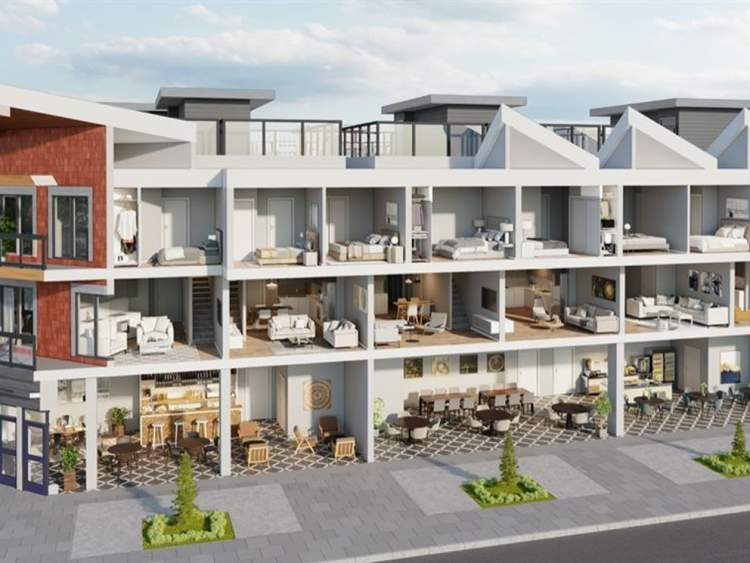 Cutaway view of downtown Squamish townhomes by Pabla Development.