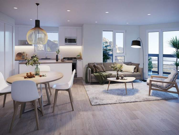 Spacious open floorplans come with a choice of light or dark colour schemes.